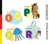 deutsch alphabet. olive oil ... | Shutterstock .eps vector #324808268