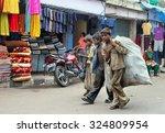 jammu india   june 18. poor... | Shutterstock . vector #324809954