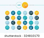 web colorful flat icons line...