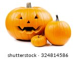 Halloween Pumpkins Isolated
