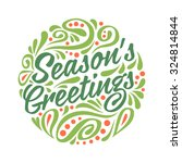 holidays greeting card with... | Shutterstock .eps vector #324814844