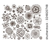 Flowers. Vector Set Of Sketche...