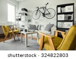 modern space   yellow armchairs ... | Shutterstock . vector #324822803