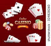 casino design elements poker...   Shutterstock .eps vector #324828260