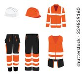 orange safety clothing vector... | Shutterstock .eps vector #324829160