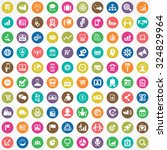 marketing 100 icons universal... | Shutterstock .eps vector #324829964