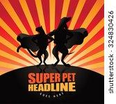 pet superhero burst background. ...   Shutterstock . vector #324830426