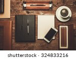luxurious businessman tools on... | Shutterstock . vector #324833216