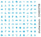 lifestyle 100 icons universal... | Shutterstock .eps vector #324833708