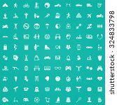 lifestyle 100 icons universal... | Shutterstock .eps vector #324833798