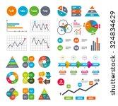business data pie charts graphs....   Shutterstock .eps vector #324834629