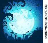 halloween poster and card.... | Shutterstock .eps vector #324843503