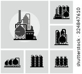 chemical plant vector icon | Shutterstock .eps vector #324847610