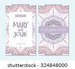 wedding invitation  thank you... | Shutterstock .eps vector #324848000