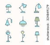 light fixtures icon set. lamps  ... | Shutterstock .eps vector #324849179