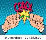hands breaking pencil. creative ... | Shutterstock .eps vector #324853610