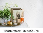 vintage home decor  candles ... | Shutterstock . vector #324855878