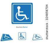 logo handicap | Shutterstock .eps vector #324858704