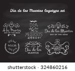 day of the dead vector logotype ... | Shutterstock .eps vector #324860216