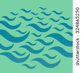 halftone sea waves on the green ... | Shutterstock .eps vector #324865250