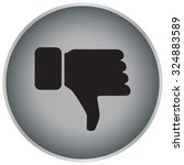 vector hand with thumb down icon | Shutterstock .eps vector #324883589