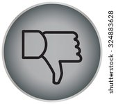 vector hand with thumb down icon   Shutterstock .eps vector #324883628