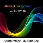 abstract colored waves on a... | Shutterstock .eps vector #324885620