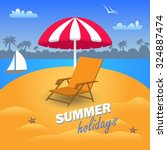 beautiful summer holidays in... | Shutterstock .eps vector #324887474