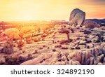 Sunset Over Desert In Joshua...