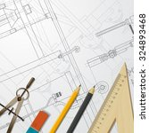 vector technical blueprint of ... | Shutterstock .eps vector #324893468