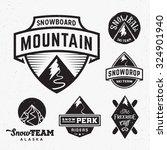 set of ski snowboard snow... | Shutterstock .eps vector #324901940