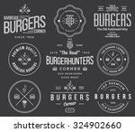 vector fast food badges and... | Shutterstock .eps vector #324902660