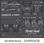 vector fast food badges and... | Shutterstock .eps vector #324902678