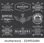 vector fast food badges and... | Shutterstock .eps vector #324902684