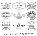 vector fast food badges and... | Shutterstock .eps vector #324902690