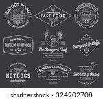 vector fast food badges and... | Shutterstock .eps vector #324902708