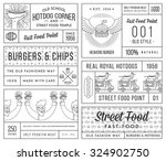 vector fast food badges and... | Shutterstock .eps vector #324902750