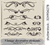 vintage patterns. to decorate... | Shutterstock .eps vector #324906278