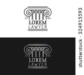 law office logos set. vector...   Shutterstock .eps vector #324915593