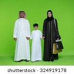 portrait of arab family | Shutterstock . vector #324919178