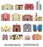flat colorful vector city... | Shutterstock .eps vector #324922619