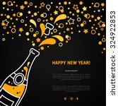 happy new year 2016 greeting... | Shutterstock .eps vector #324922853