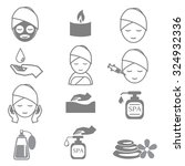 icon spa for beauty  relaxation ...   Shutterstock .eps vector #324932336
