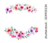 floral wreath. invitation....   Shutterstock . vector #324933134