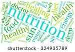 nutrition word cloud on a white ... | Shutterstock .eps vector #324935789