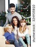 portrait of happy family... | Shutterstock . vector #324935810