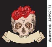 doodle illustration of a human... | Shutterstock .eps vector #324937478