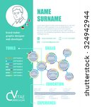 cv. brief resume cv template... | Shutterstock .eps vector #324942944