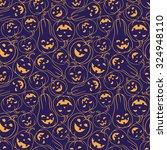 funny halloween pumpkin... | Shutterstock .eps vector #324948110