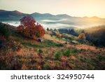 retro style photo of mountain... | Shutterstock . vector #324950744
